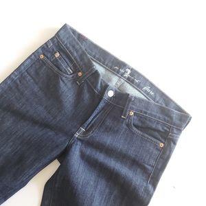 7 FAMK flare dark wash jeans